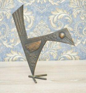 Mythical Bird bronze figurine statue 1950s, Birthday Vintage Gift ideas him her