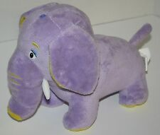 "Moshi Pop Tops Purple Lavender Yellow Plush ELEPHANT 12"" Stuffed Animal Soft Toy"