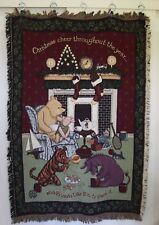 Classic Winnie The Pooh & Friends Disney Christmas Tapestry Throw Blanket