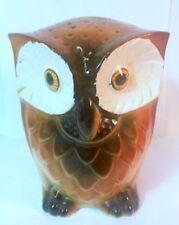 Vtg Ceramic OWL Coin Money Piggy BANK Statue Figurine