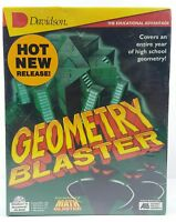 New Sealed Geometry Blaster Game Jan Davidson PC CD-ROM Big Box Mathematics Math
