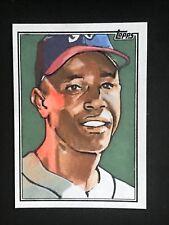 2018 Topps Series 2 Hank Aaron Sketch Card 1/1 Braves Artist M James