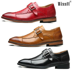 Men's Oxfords Penny Dress Monk Strap Lined Shoes Boots Leather Comfort Loafers