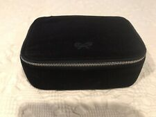 Anya Hindmarch British Airways First Class Cosmetic Zippered Pouch Bag Navy Blue