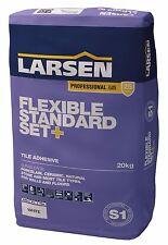 LARSEN PRO STANDARD (SLOW) SET FLEXIBLE PLUS 20 KG ADHESIVE WHITE