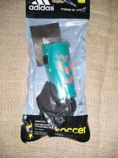 Adidas Messi 10 Youth - Small - Teal Soccer Shield Pads Attached Ankle Sock