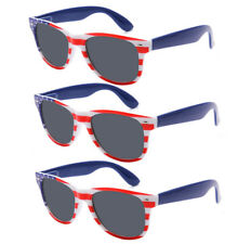 3 Pairs USA American Flag July 4 Retro Patriot Style Party Sunglasses