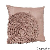 Flower Textured Throw Pillow Mauve