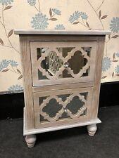 BELLA & compatta di legno e specchio 2 cassetti letto Armadio laterale con manopola di cristallo