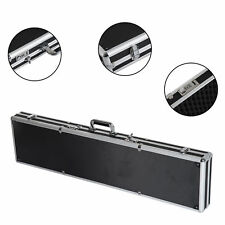44″ Long Gun Case Aluminum Locking Rifle Pistol Shotgun Storage Box Carry Case