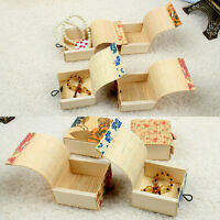1pc Bamboo Storage Box Organizer Jewelry Case Boxes Wooden Trinket Storage Gift