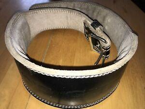 Golds Gym Leather Weight Training Belt Black Large