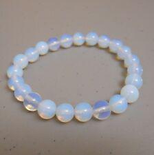 Bohemian Boho 8 mm Opalite Bead Stretch Bracelet 7 Inch