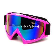 Motorcycle MX Goggles Dirt Bike ATV MTB Sport Eyewear Riding Skiing Glasses Pink