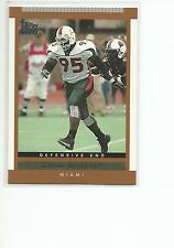 JEROME McDOUGLE 2003 Topps Draft Picks card #133 Miami Hurricanes Football NR MT