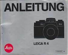 Bedienungsanleitung Prospekt  Leitz Leica R4 52 Seiten in deutsch  Anleitung F70