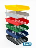 LETTER TRAYS Desk Filing Sorting A4+ STACKABLE Various Colours