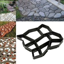 DIY Garden Path Maker Mold Paving Cement Brick Mould Ornament Stone Road Black