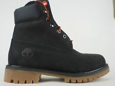 Mens Timberland 6 Inch Premium A147M Black Leather Lace Up Chukka Boots