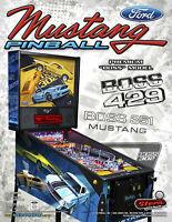 Stern MUSTANG PREMIUM BOSS 429 Original NOS Game Pinball Machine Flyer Auto Race