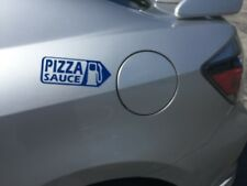 Pizza Sauce Pizza Hut Dominos Delivery  Driver Gas Tank Sticker Pick Your Color