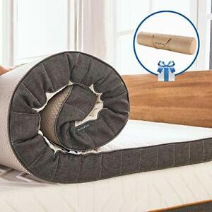 "Inofia Sleep Single Gel Memory Foam Mattress Topper,3"" Gelgem Mattress Topper"