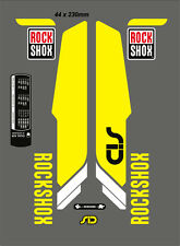ROCK SHOX SID  FORK DECAL SET NEON YELLOW VERSION 29""