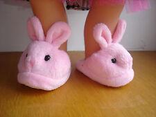Chaussons lapin pour poupée miss corolle 42 cm et poupons accessoire chaussures