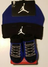Nike Air Jordan Girls or Boys Infant Hat & Booties Set Size 0 - 6 Months
