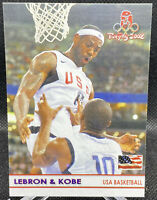 KOBE BRYANT LEBRON JAMES 2008 Beijing Olympics Card RARE /100
