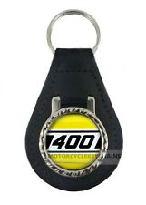 YAMAHA RD 400 RD400 KENNY ROBERTS COLOURS   leather  keyring keychain