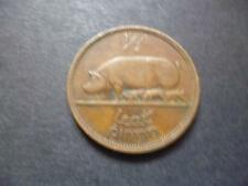EIRE (IRELAND REPUBLIC) 1953 HALFPENNY COIN BRONZE FEATURING PIGS 1953 HALFPENNY