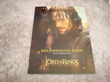 Lord Of The Rings The Two Towers Oscar ad Viggo Mortensen as Aragorn with horse