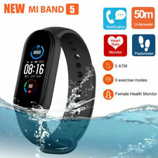 NEW Xiaomi Mi Band 5 AMOLED Smart Watch Heart Rate Monitor 5ATM Waterproof