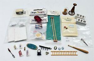 LMAS ~ Doll House Miniatures 1950's Radio, Soup & Crackers, Art Canvas+