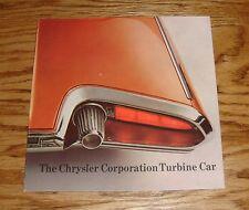 Original 1964 Chrysler Turbine Car Sales Brochure 64