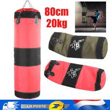 Sac de boxe rempli 20kg avec suspension chaîne frappe sable appareil sport 80cm
