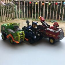 Free Delivery! Paw Patrol x3 Vehicles & Figures Chase Marshall Rocky