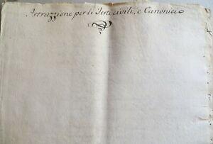 1700 MANOSCRITTO TESTI CIVILI CANONICI GIURISPRUDENZA DIRITTO CANONICO LEGGI