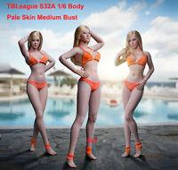 "Phicen Female Body Model 1/6 TBLeague S32A Pale Skin Medium Bust Figure 12"" Doll"