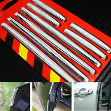 8PCS Transparent Soft Doors Edge Protector Guard Anti-scratch Rub Strips Bumper