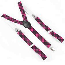 PINK TARTAN NERD GEEK SQUAD SCHOOL GIRL BOW TIE 3PCS SET FANCY DRESS COSTUME