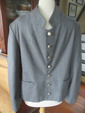 M Civil War men/boys gray 100% wool Confederate/civilian jacket sack coat pewter