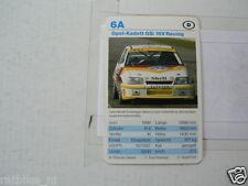 53-RACING CARS 6A OPEL-KADETT GSI 16V RACING  KWARTET KAART,CARD