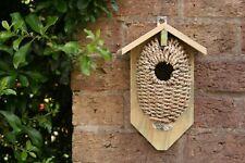 Wicker Wooden Wren Bird Nesting House Nest. Garden Shed Allotment