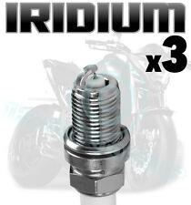 3x AGA Bujías de Iridio para Triumph 955cc Velocidad Triple 10 / 98- > 01