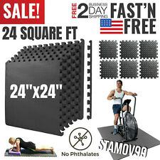 Exercise Floor Mat Fitness Puzzle Rug Gym Workout 24SF Equipment Weight Lifting