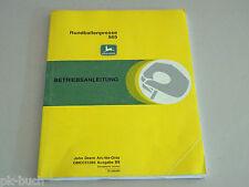 Betriebsanleitung John Deere Rundballenpresse 565 Stand 1994