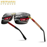 KEITHION Mens Rimless Square Sunglasses Fashion Outdoor Driving UV400 Eyewear