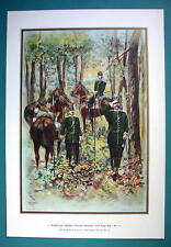 GERMAN ARMY 24th Regiment of Dragoons Body Guards - COLOR Litho Print